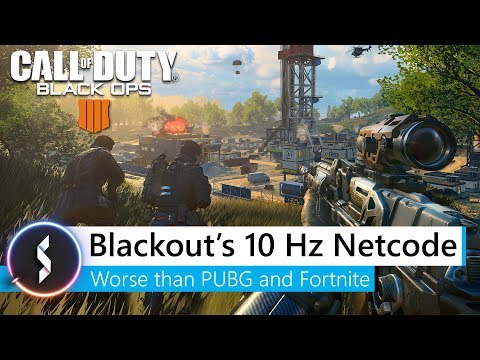 Blackout's 10Hz Netcode Worse Than PUBG and Fortnite