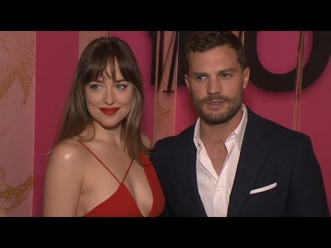 FIFTY SHADES FREED Pop Up Red Carpet - Dakota Johnson & Jamie Dornan