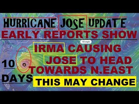 Hurricane JOSE UPDATE! IRMA May send JOSE to The North East!