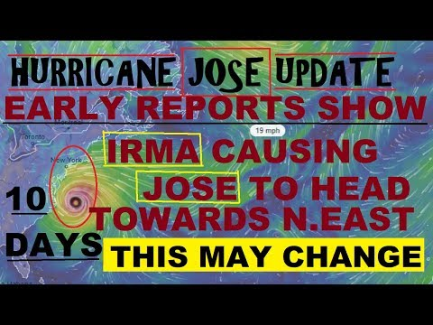 Hurricane JOSE UPDATE! IRMA May send JOSE to The North East!