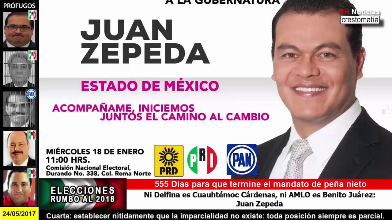 Juan Zepeda se une al PRI y al PAN contra AMLO
