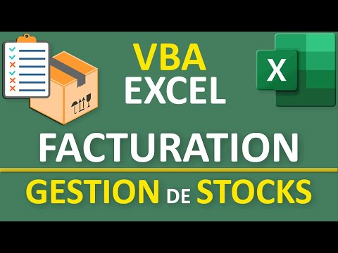 Facturation Clients Excel Avec Gestion De Stocks Vba Youtube