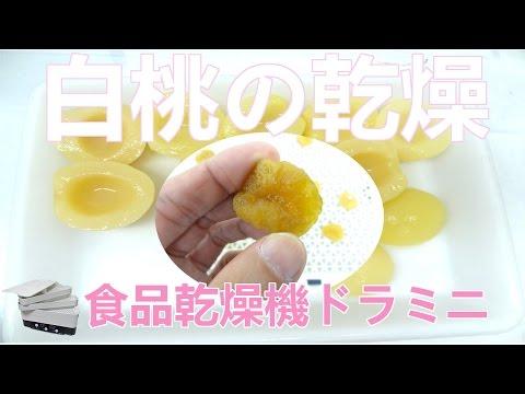 [白桃を乾燥]ドライフルーツメーカードラミニ