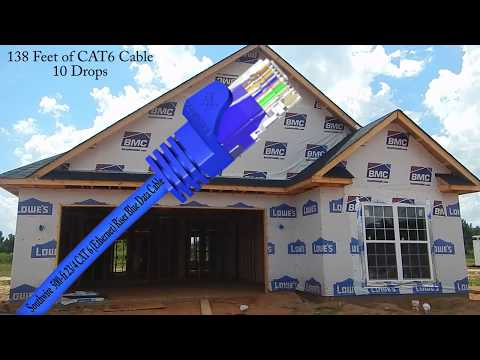 Southwire  CAT 6 (Ethernet) Riser Blue Data Cable install into new home