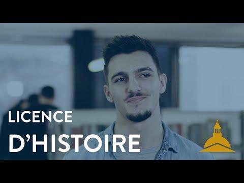 La licence d'Histoire
