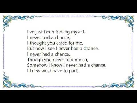 Irving Berlin - I Never Had a Chance song Lyrics