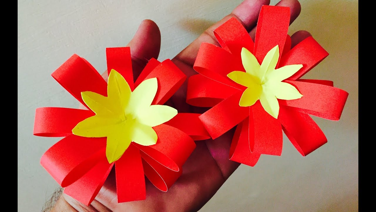 How To Make Paper Flower Bow
