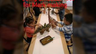 Dinosaur exploration in preschool