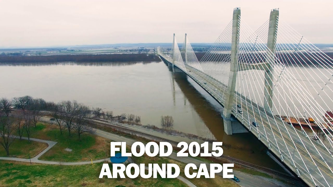 Flood 2015 Cape Girardeau - Dec 30th Aerial Drone Video ...