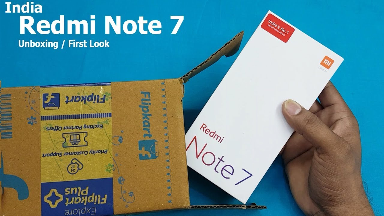 India Mobile Redmi Note 7 Unboxing / First Look || Redmi Note 7  Specifications | Flipkart