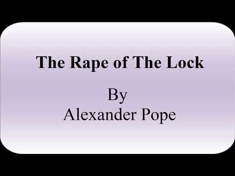 The Rape Of The Lock By Alexander Pope Summary & Character List