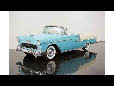 beautiful classic 1955 Chevrolet Bel Air Convertible (photo slideshow)