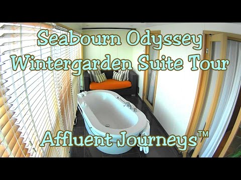 Seabourn Odyssey Wintergarden Suite Tour in 1080p