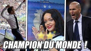LES ÉNORMES RÉACTIONS : CHAMPION DU MONDE 2018 ! 🇫🇷 🌟🌟