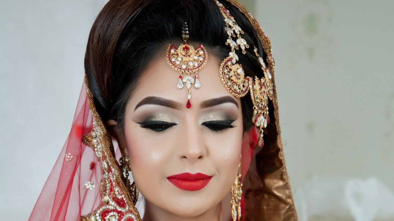 Traditional Bridal Makeup Looks : Asian Bridal Makeup Traditional Look - YouTube