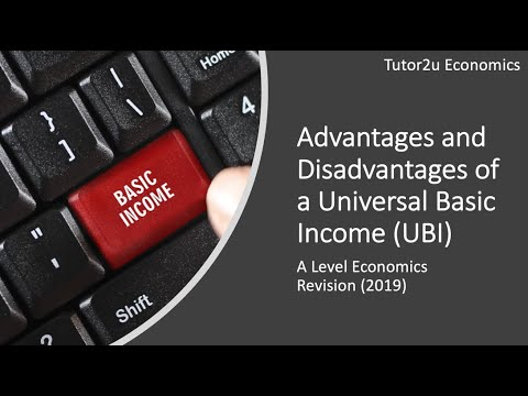 Advantages And Disadvantages Of A Universal Basic Income (UBI)