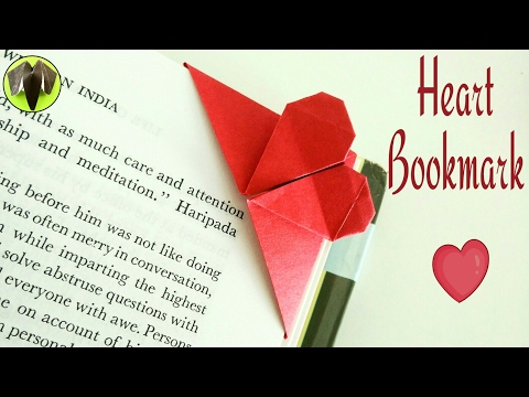 Easy Heart | Love Bookmark - DIY Origami Tutorial by Paper Folds - 728