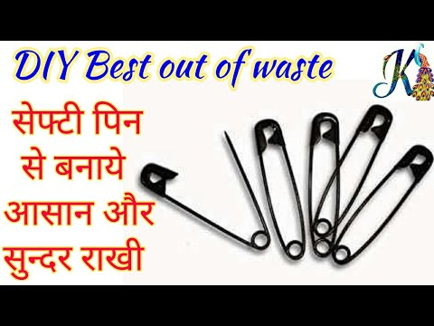 DIY Rakhi making | Best use of waste Safety pin craft idea | reuse safety pin | Best out of waste