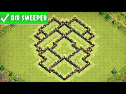 Clash Of Clans | GREAT TOWN HALL 7 HYBRID BASE (AIR SWEEPER EDIT) TH7 SPEED BUILD