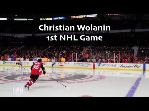 Christian Wolanin - 1st NHL Game Highlights + Interview