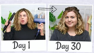 I Tried the Curly Girl Method for 30 Days (wavy hair transformation)