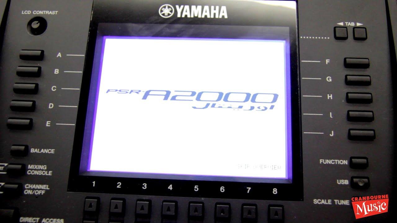yamaha psr a2000 oriental keyboard youtube