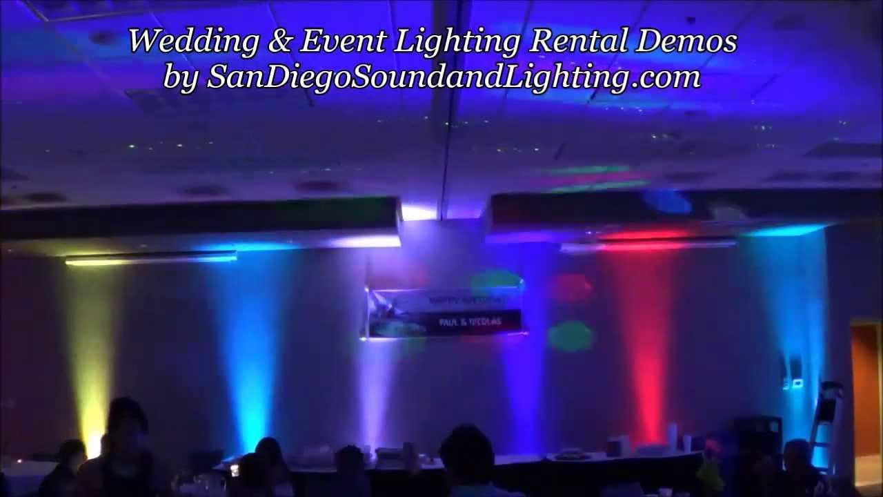 led up lights sound activated effect demo chauvet slimpar 38