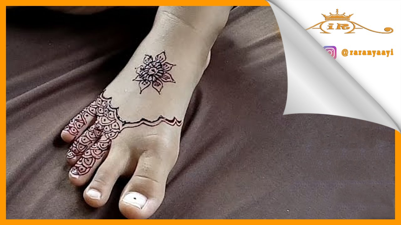 Simple Henna For Leg Belajar Henna Youtube