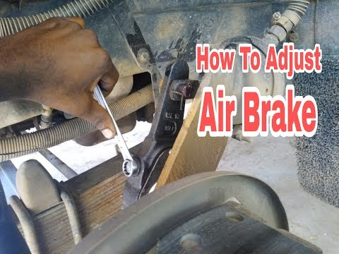 Adjusting air brakes l How to Adjust air brake Adjuster  Air brake brake setting l Malayalam