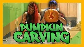 Grumpy Pumpkin Carving with Team Rocket