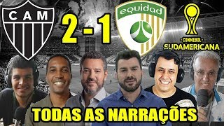 Todas as narrações - Atlético-MG 2 x 1 La Equidad / Copa Sul-Americana 2019