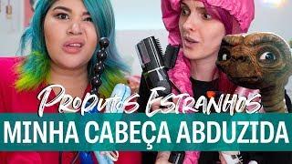 TESTANDO PRODUTOS ALIENÍGENAS PARA CABELO feat Carol Kyoko - Karen Bachini