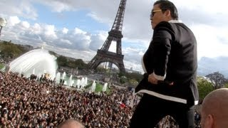 PSY GANGNAM STYLE Paris live flashmob at Trocadero with Cauet 파리 강남스타일 5.11.2012