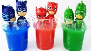 Pj Masks Toys Paint and Wash Learn Colors Pj Masks Buckets Toys Games