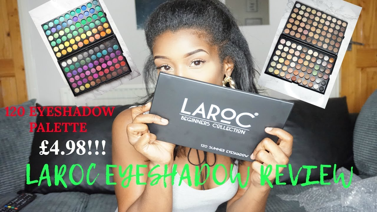 £4 98 LAROC 120 EYESHADOW PALETTE REVIEW    BOMB GROUPON DEAL!