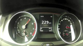 .New Golf 7 GTI Performance Acceleration 0-250 KMH on Autobahn