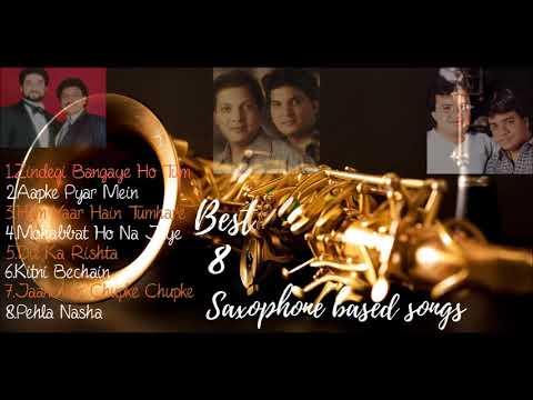 Best 8 Saxophone Based Songs Audio Jukebox 90's Bollywood Songs