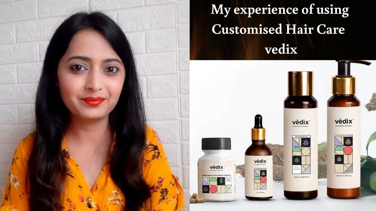 My Experience Of Using Customised Hair Care Vedix Vedix Hair Product By Healthandbeautystation Youtube