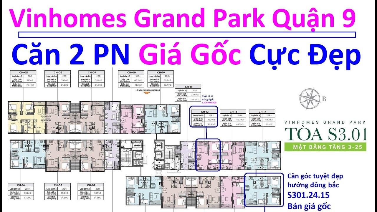Vinhomes Grand Park Quận 9 Căn Hộ 2 Phòng Ngủ, 1 Phòng Ngủ Cực Đẹp Bán Theo Giá Gốc