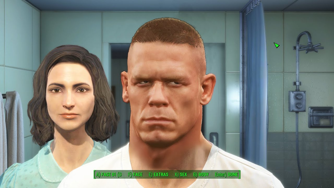 Fallout 4 Character Creation - John Cena - YouTube