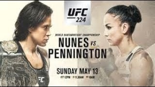 UFC 224 -Amanda Nunes -VS- Raquel Pennington - (FULL FIGHT)