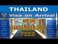 2018 Thailand Visa On Arrival Fees INCREASED (DOUBLE)