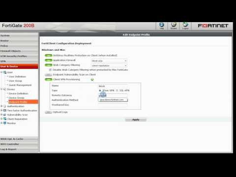 Introduction to FortiClient endpoint control using a