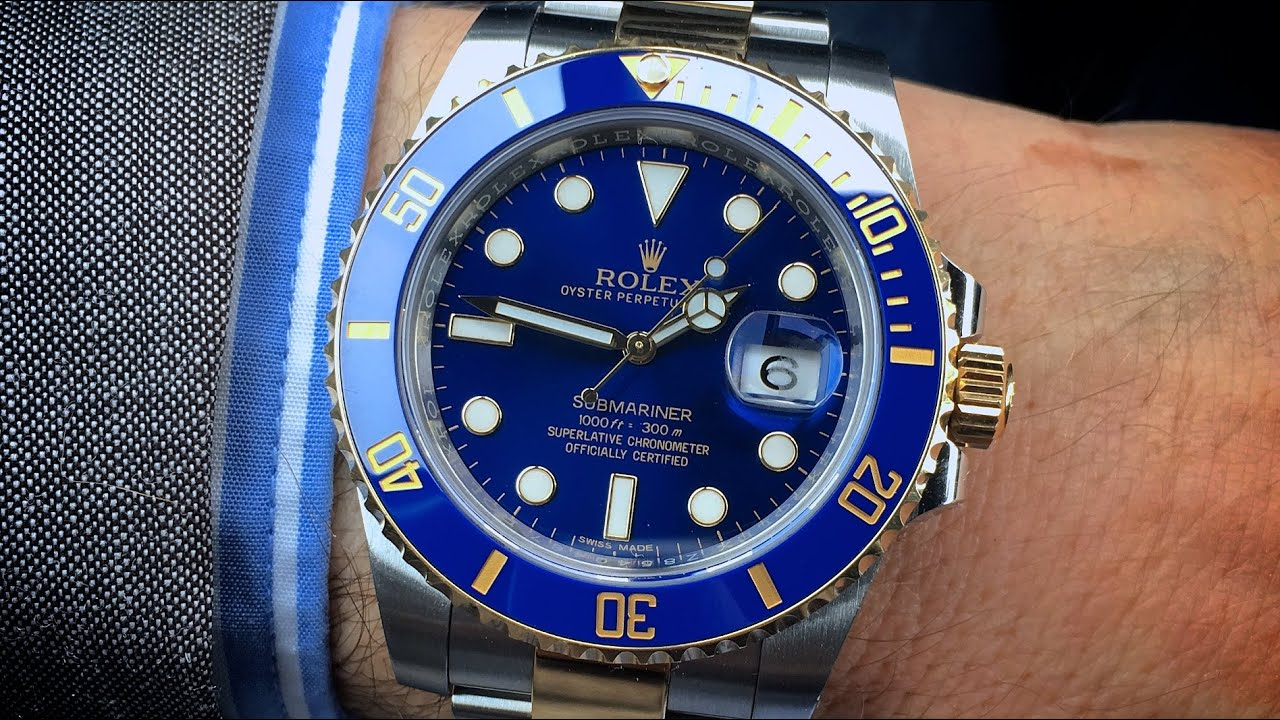 Rolex Submariner Blue Gold Two Tone