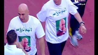 شاهد.. لاعبو المصري يساندون حسام حسن