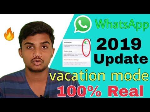 WhatsApp Vacation Mode 2019 New Update | WhatsApp Do Not Disturb New Update 2019