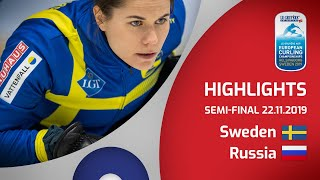 HIGHLIGHTS: Sweden v Russia – semi-final – Le Gruyère AOP European Curling Championships 2019