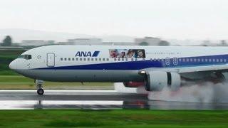 [ロンドン五輪 特別塗装機] ANA 767-300 JA8290 LANDING TOYAMA Airport 富山空港 2012.7.6