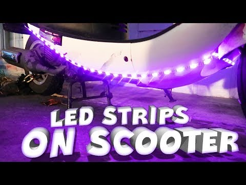 Installing LED Light Strips on My Scooter