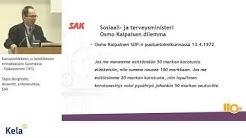 Tapio Bergholm, SAK: Kansaneläkkeen ja työeläkkeen rinnakkaiselo Suomessa – Eläkepommi 1972